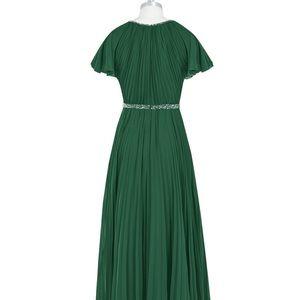 Dark green formal dress